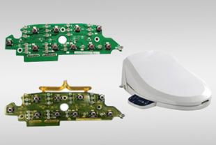 低压注塑成型热熔胶应用在智能马桶盖电子元器封装