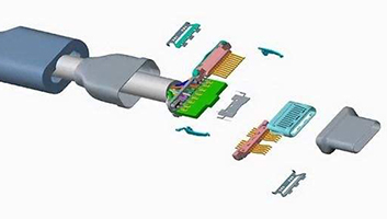 USB Type-c接口结构解剖图片
